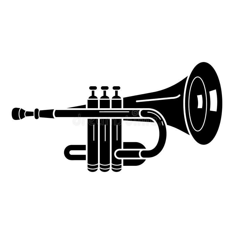 ?cone da trombeta do concerto, estilo simples ilustração stock