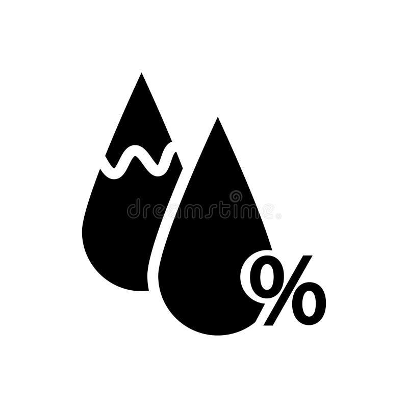 ?cone da umidade Sinal da gota e de por cento ilustração royalty free