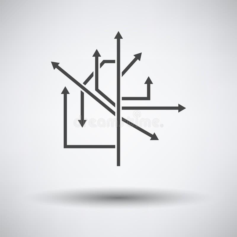 ?cone das setas do sentido ilustração stock