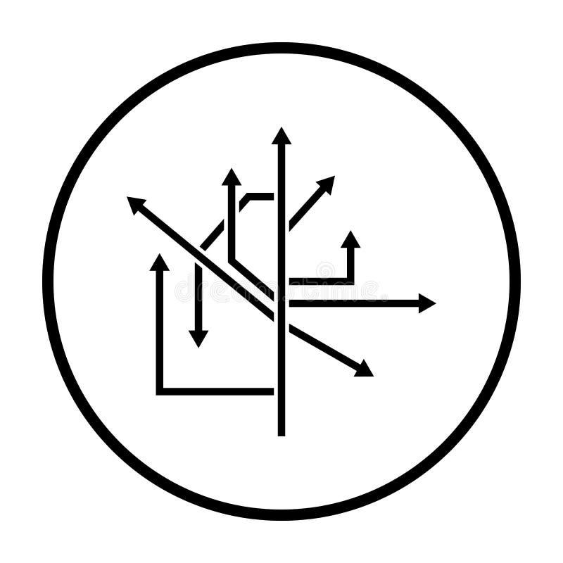 ?cone das setas do sentido ilustração do vetor