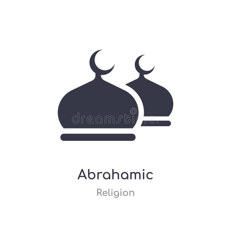 ?cone de Abrahamic ilustração abrahamic isolada do vetor do ícone da coleção da religião edit?vel cante o s?mbolo pode ser uso pa ilustração royalty free