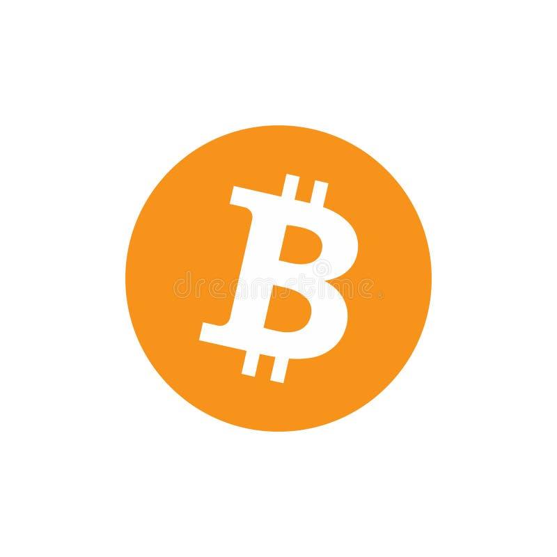 ?cone de Bitcoin, sinal do vetor, s?mbolo do pagamento, logotipo da moeda Moeda cripto, eletr?nico virtual, dinheiro do Internet  ilustração royalty free