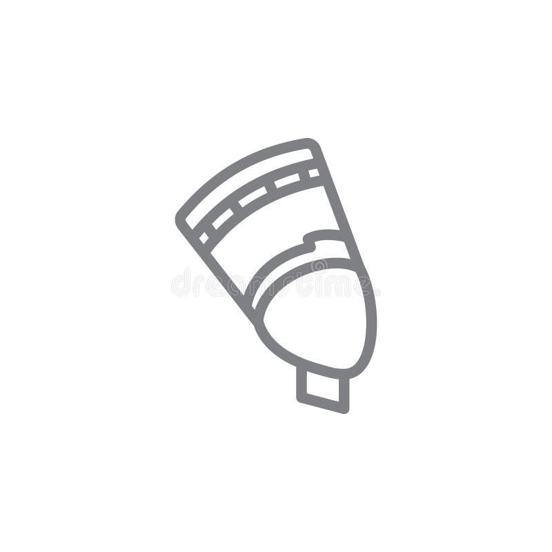 ?cone de Cleopatra Elemento do ?cone do myphology Linha fina ?cone para o projeto do Web site e o desenvolvimento, desenvolviment ilustração royalty free
