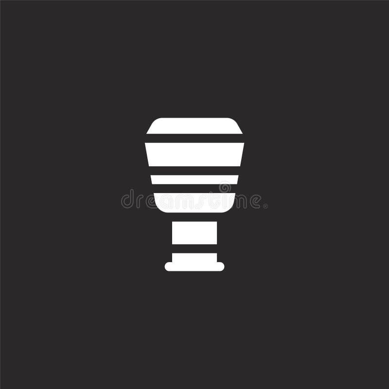 ?cone de Djembe Ícone enchido do djembe para o projeto do Web site e o móbil, desenvolvimento do app ícone do djembe dos instrume ilustração royalty free