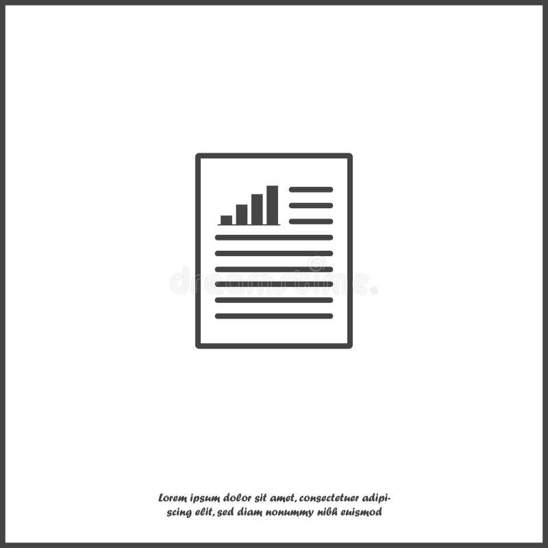 ?cone de documento do vetor com taxa de crescimento e texto no fundo isolado branco Camadas agrupadas para a ilustra??o f?cil da  ilustração do vetor