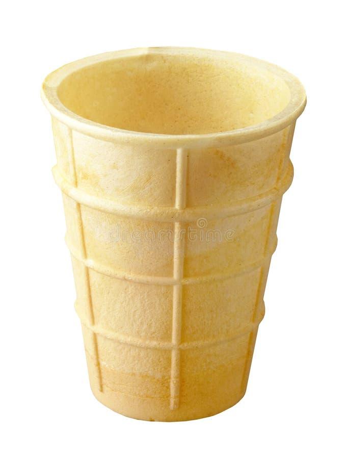 Cone de gelado vazio imagens de stock