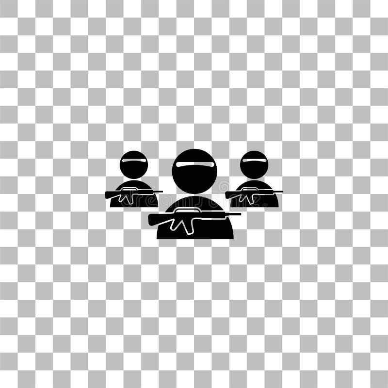 ?cone de grupo do bandido horizontalmente ilustração stock
