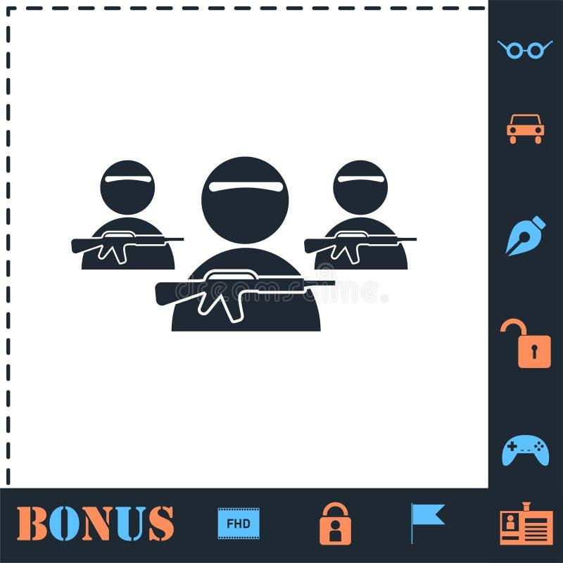 ?cone de grupo do bandido horizontalmente ilustração royalty free