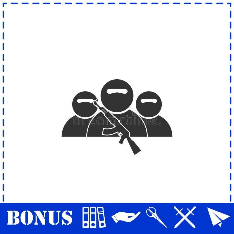?cone de grupo do bandido horizontalmente ilustração do vetor