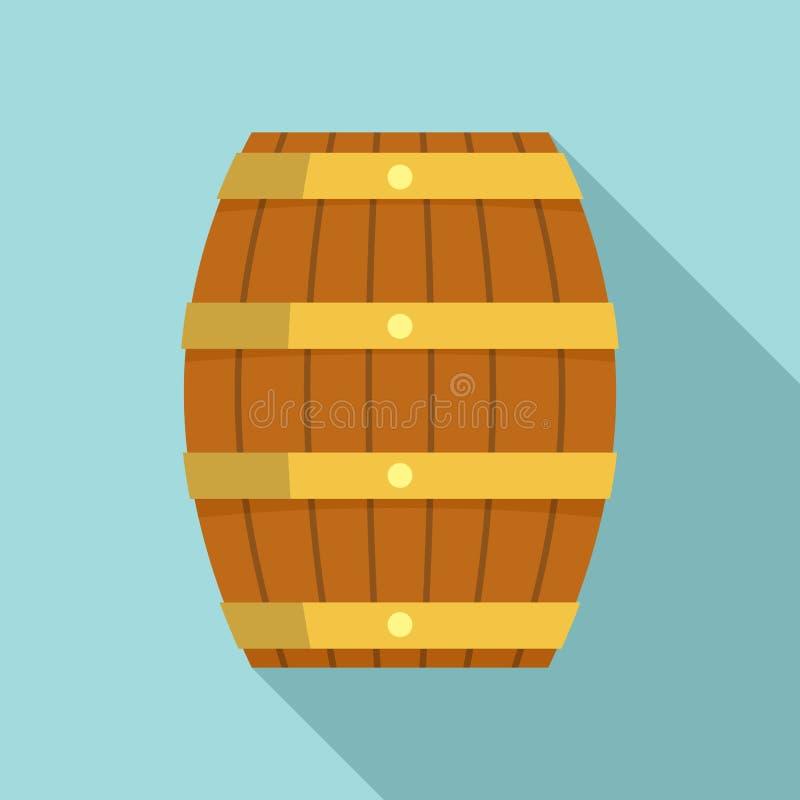 ?cone de madeira do tambor, estilo liso ilustração do vetor