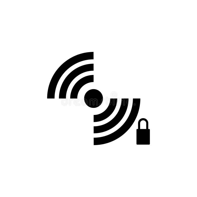 ?cone de Wi-Fi Vetor do ?cone do Internet ilustração royalty free