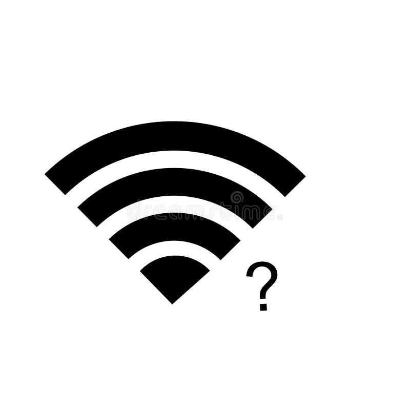 ?cone de Wi-Fi Vetor do ?cone do Internet ilustração stock