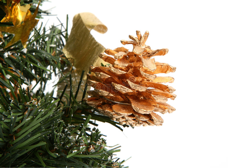 Cone Decorativo Do Natal Imagens de Stock Royalty Free