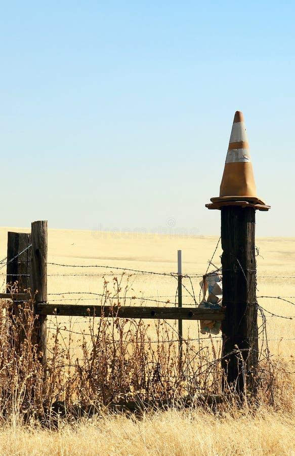 Cone desvanecido do tráfego foto de stock royalty free