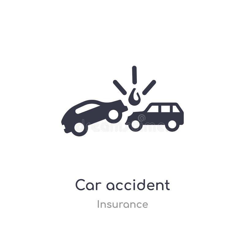?cone do acidente de tr?nsito ilustração isolada do vetor do ícone do acidente de trânsito da coleção do seguro edit?vel cante o  ilustração do vetor