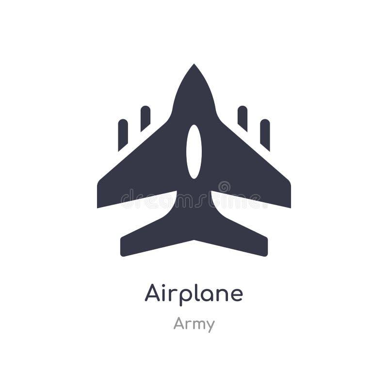 ?cone do avi?o ilustração isolada do vetor do ícone do avião da coleção do exército edit?vel cante o s?mbolo pode ser uso para o  ilustração do vetor