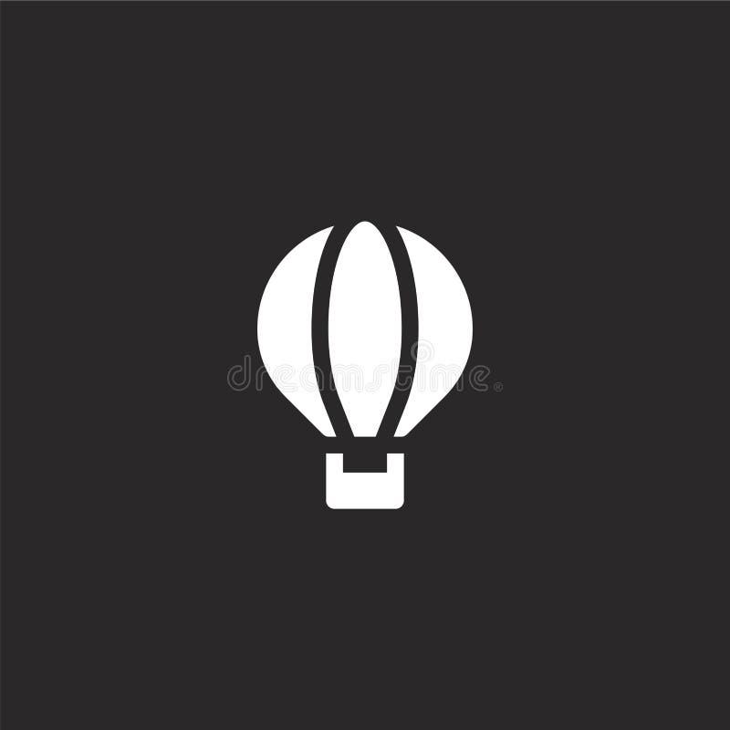 ?cone do bal?o de ar Ícone enchido do balão de ar para o projeto do Web site e o móbil, desenvolvimento do app ícone do balão de  ilustração do vetor