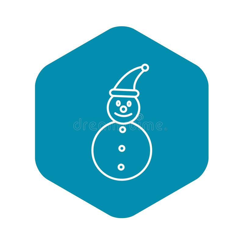?cone do boneco de neve, estilo do esbo?o ilustração stock