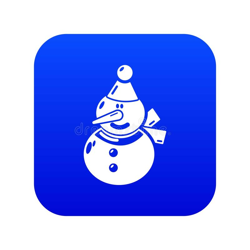 ?cone do boneco de neve, estilo preto simples ilustração do vetor