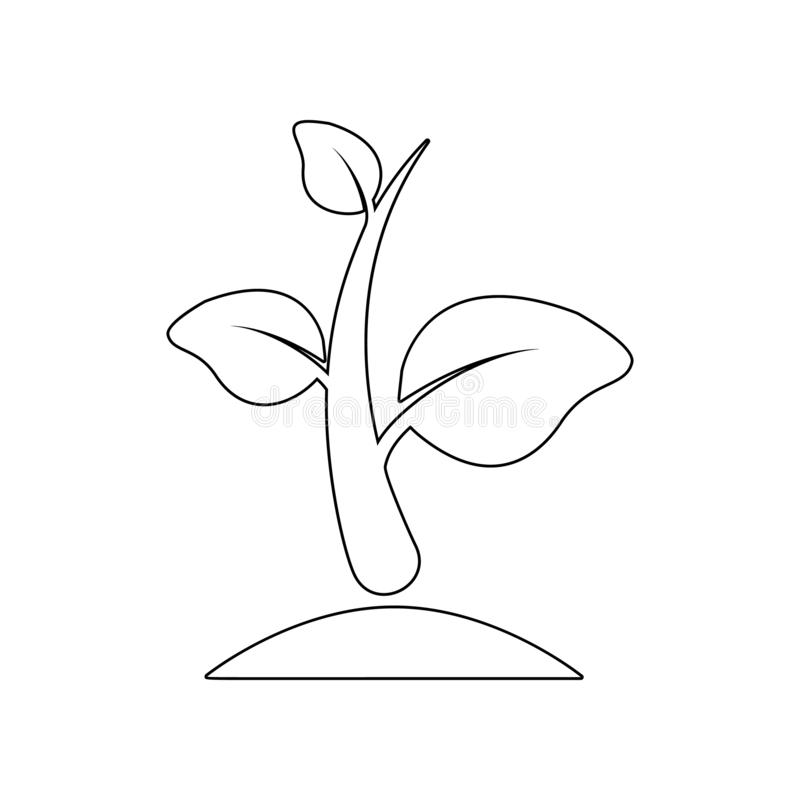 ?cone do broto Elemento do jardim para o conceito e o ?cone m?veis dos apps da Web Esbo?o, linha fina ?cone para o projeto do Web ilustração stock