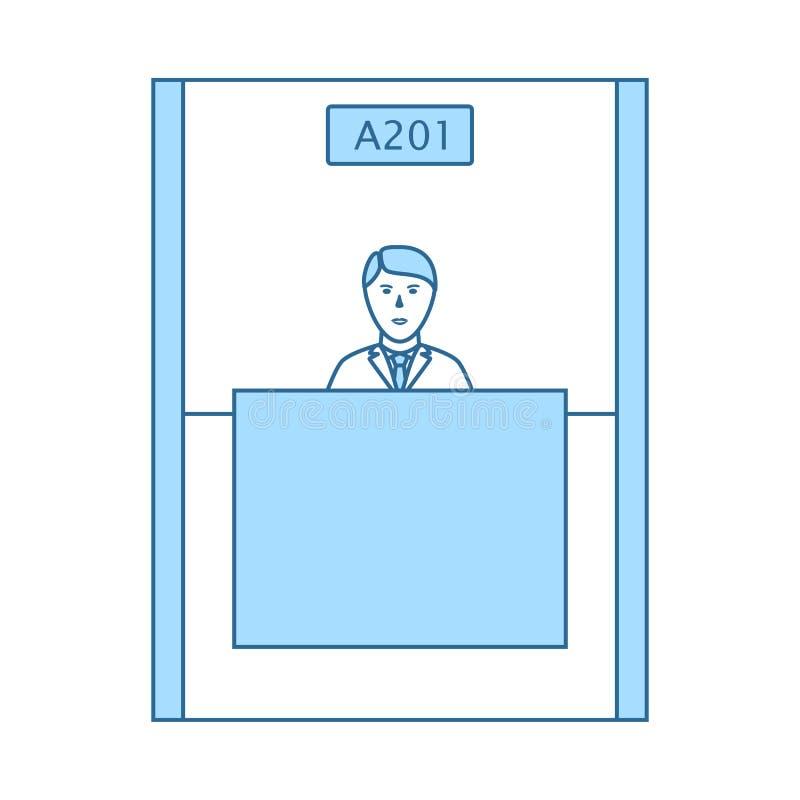 ?cone do caixeiro de banco ilustração do vetor