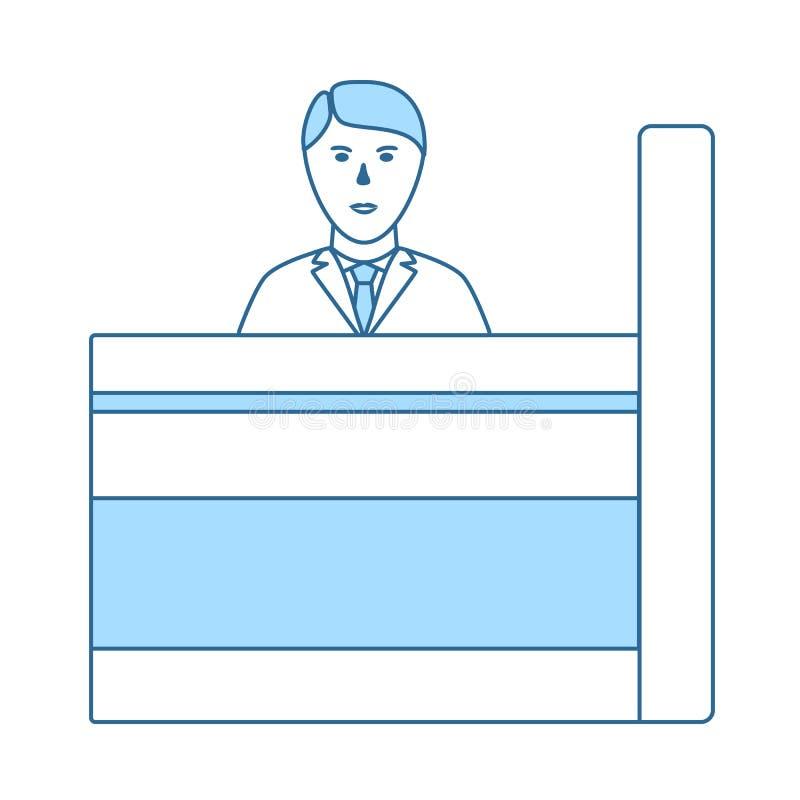 ?cone do caixeiro de banco ilustração royalty free