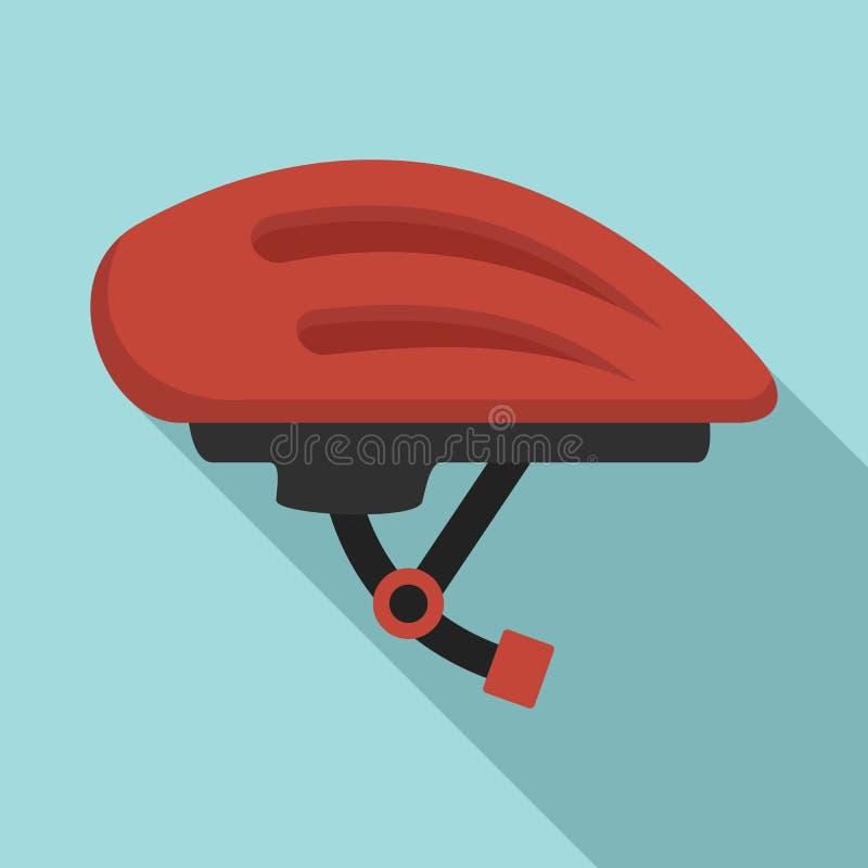 ?cone do capacete da bicicleta, estilo liso ilustração stock