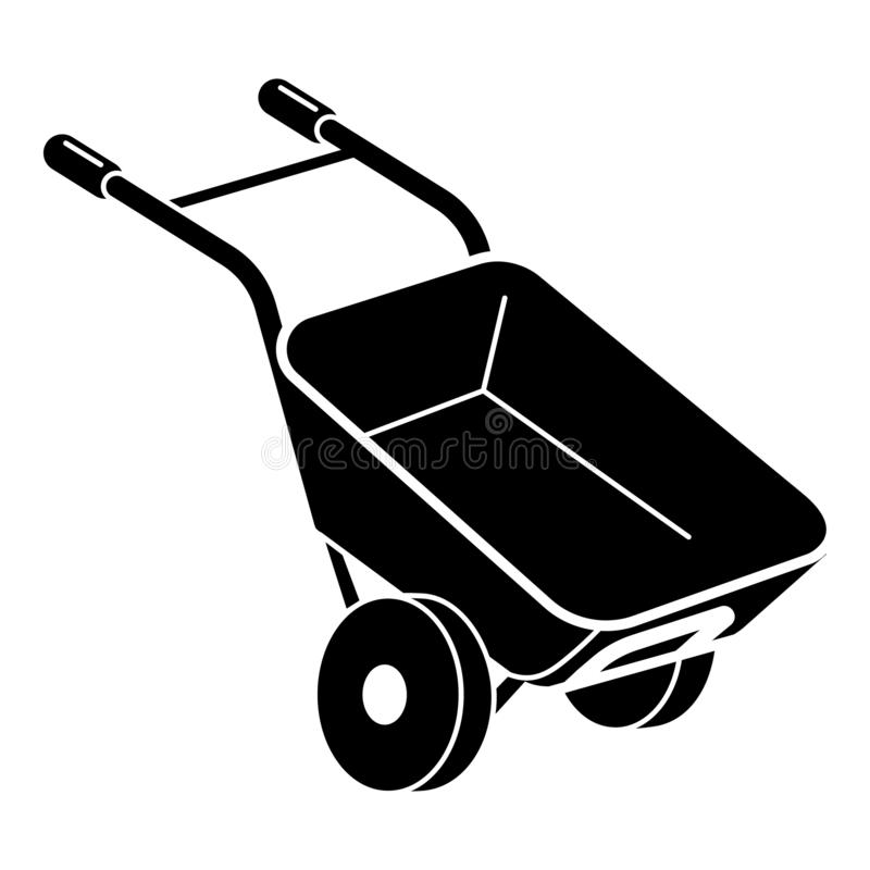 ?cone do carrinho de m?o do jardim, estilo simples ilustração stock