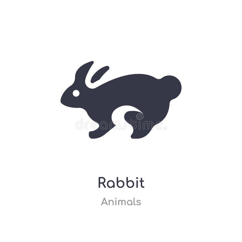 ?cone do coelho ilustração isolada do vetor do ícone do coelho da coleção dos animais edit?vel cante o s?mbolo pode ser uso para  ilustração do vetor