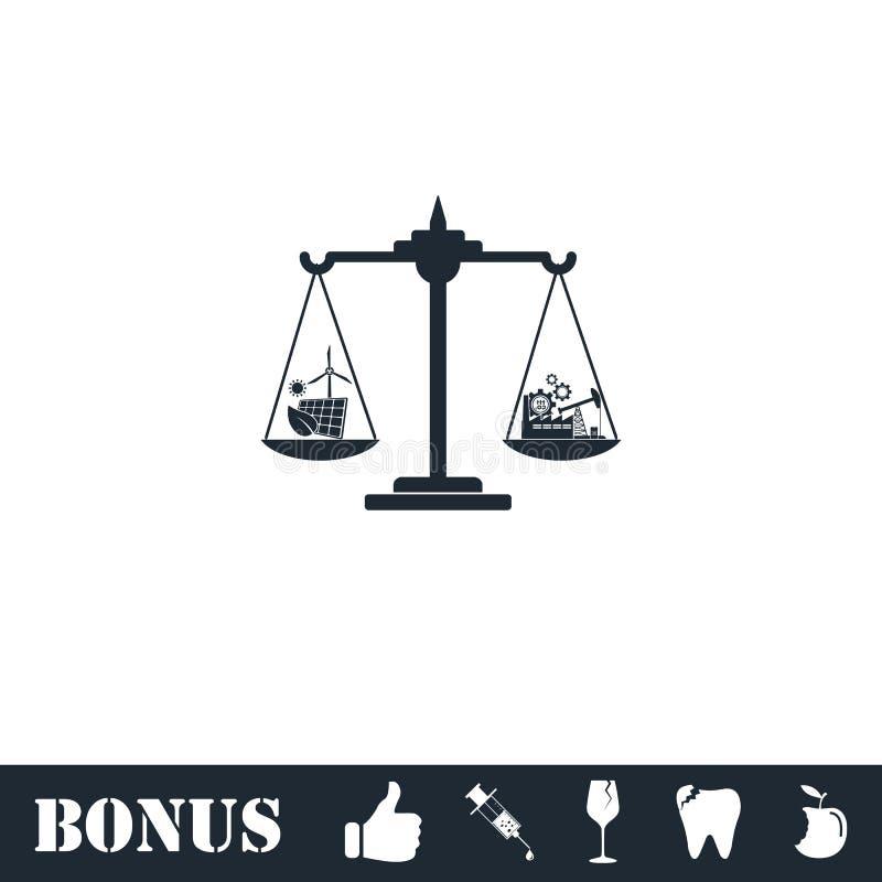 ?cone do conceito de Eco horizontalmente ilustração royalty free
