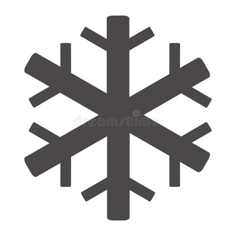 ?cone do condicionamento de ar no fundo branco S?mbolo do floco de neve Estilo liso ?cone para seu projeto do site, logotipo do f ilustração do vetor