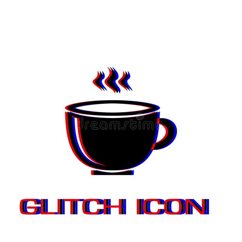 ?cone do copo de caf? liso ilustração royalty free