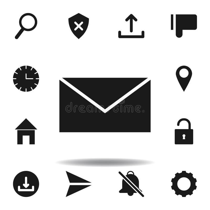 ?cone do correio do Web site do envelope ajuste dos ícones da ilustração da Web os sinais, símbolos podem ser usados para a Web,  ilustração royalty free