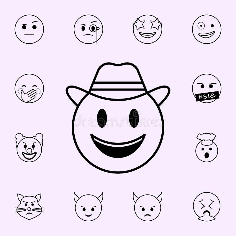 ?cone do detetive Grupo universal dos ?cones de Emoji para a Web e o m?bil ilustração royalty free