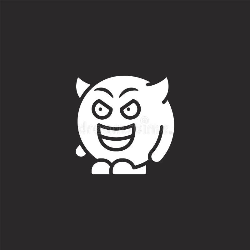 ?cone do diabo Ícone enchido do diabo para o projeto do Web site e o móbil, desenvolvimento do app ícone do diabo da coleção ench ilustração stock