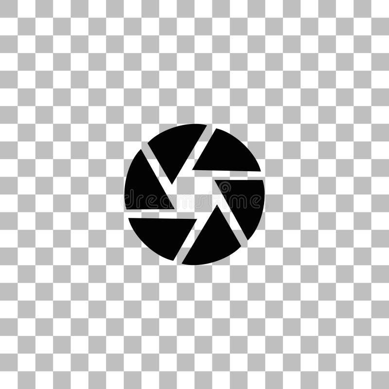 ?cone do diafragma de abertura horizontalmente ilustração do vetor