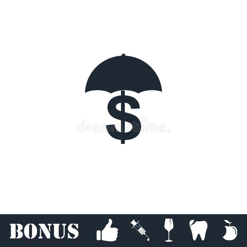 ?cone do dinheiro da preserva??o e de prote??o horizontalmente ilustração do vetor
