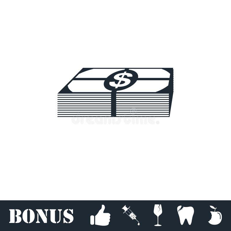 ?cone do dinheiro do pacote horizontalmente ilustração stock