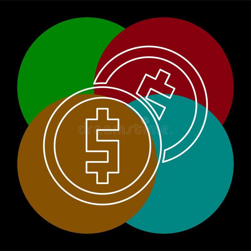 ?cone do dinheiro do vetor Sistema de pagamento ilustração stock