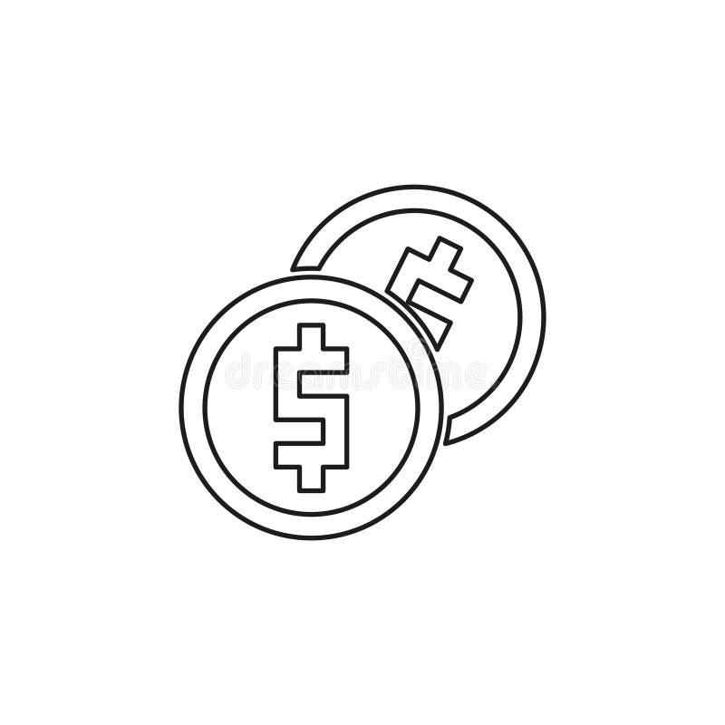?cone do dinheiro do vetor Sistema de pagamento ilustração do vetor