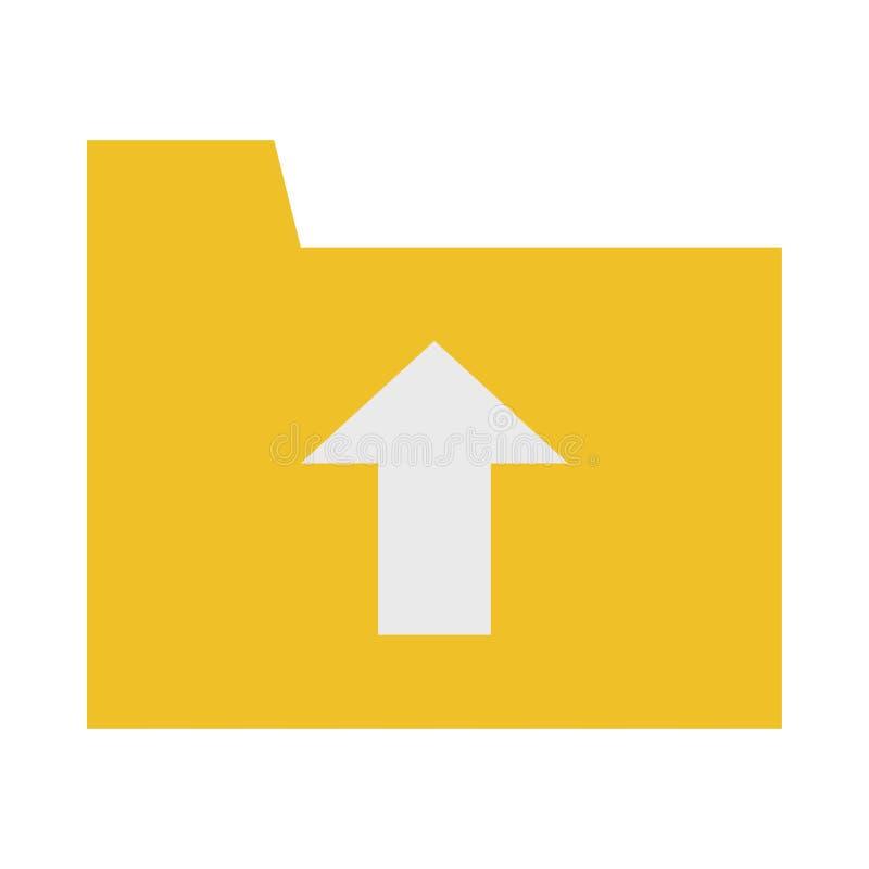 ?cone do dobrador da transfer?ncia de arquivo pela rede ilustração lisa do ícone do vetor do dobrador da transferência de arquivo ilustração stock