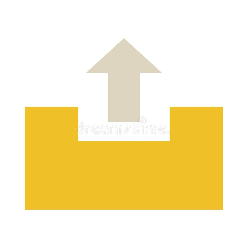 ?cone do dobrador da transfer?ncia de arquivo pela rede ilustração lisa do ícone do vetor do dobrador da transferência de arquivo ilustração do vetor