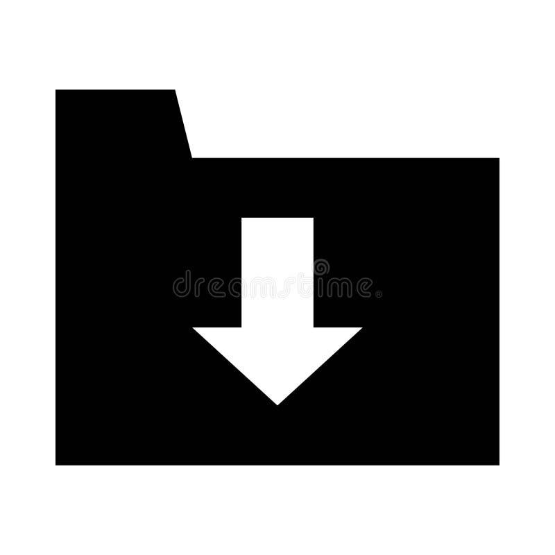 ?cone do dobrador da transfer?ncia ilustração lisa do ícone do vetor do dobrador da transferência para a Web ilustração stock