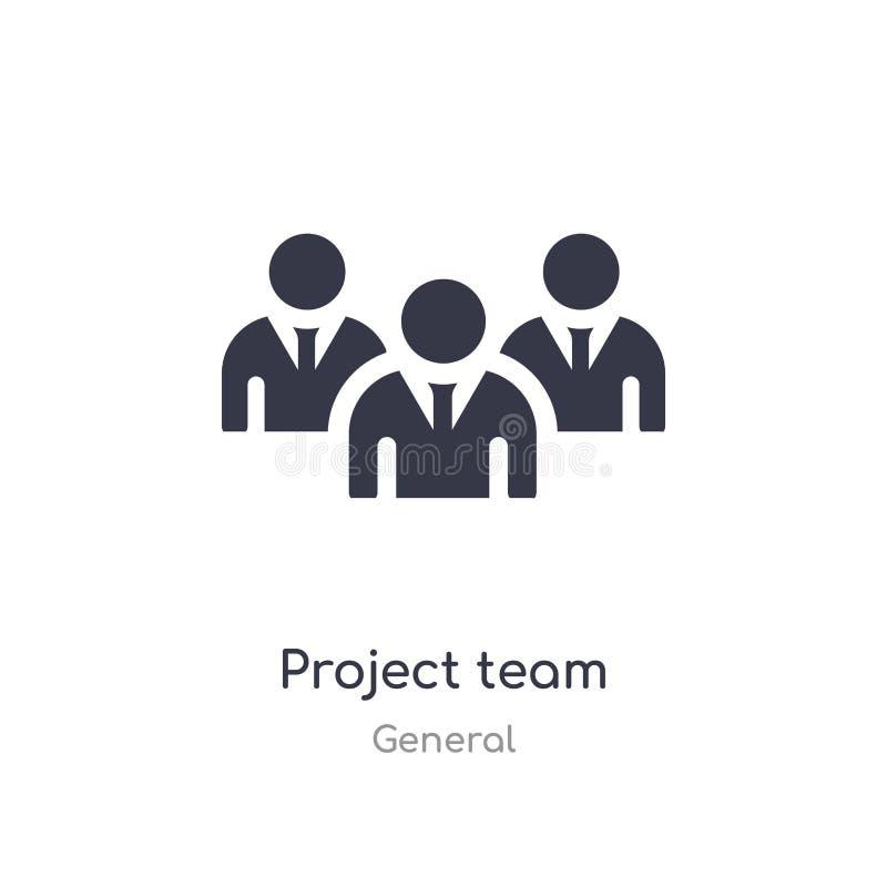 ?cone do equipe de projeto ilustração isolada do vetor do ícone do equipe de projeto da coleção geral edit?vel cante o s?mbolo po ilustração do vetor