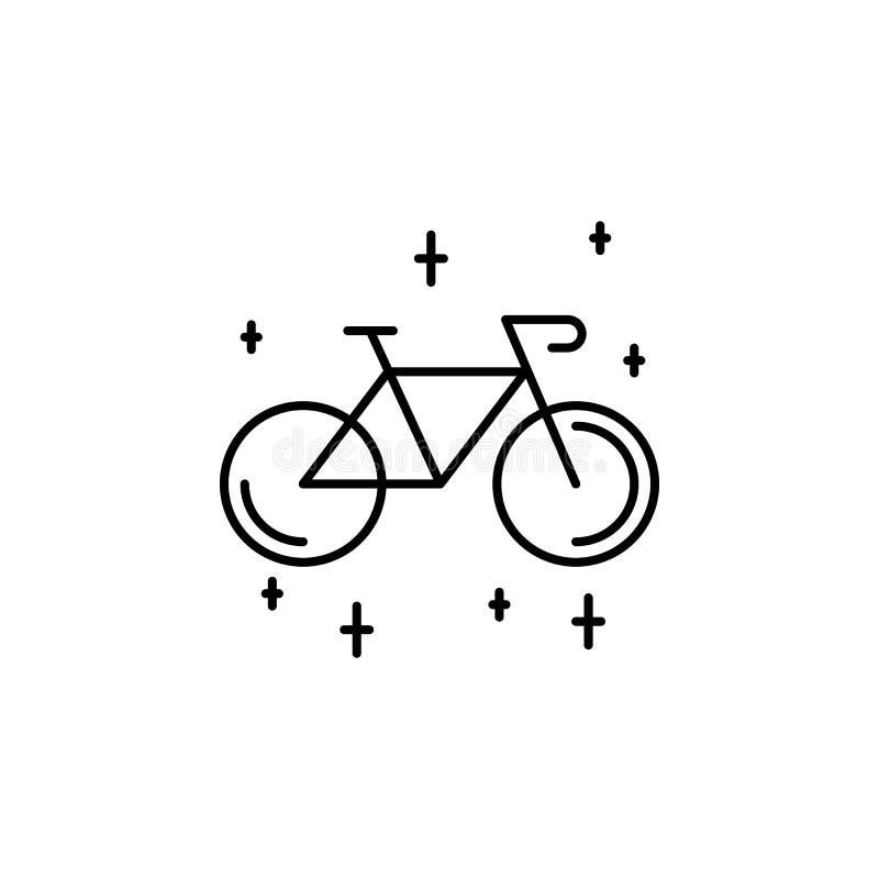 ?cone do esbo?o da bicicleta Elemento do ícone da ilustração do estilo de vida Projeto gr?fico da qualidade superior Sinais e ?co ilustração royalty free