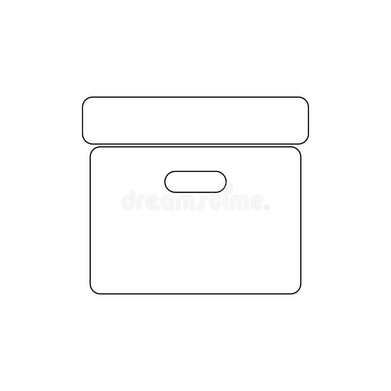 ?cone do esbo?o da caixa do arquivo Os sinais e os s?mbolos podem ser usados para a Web, logotipo, app m?vel, UI, UX ilustração do vetor