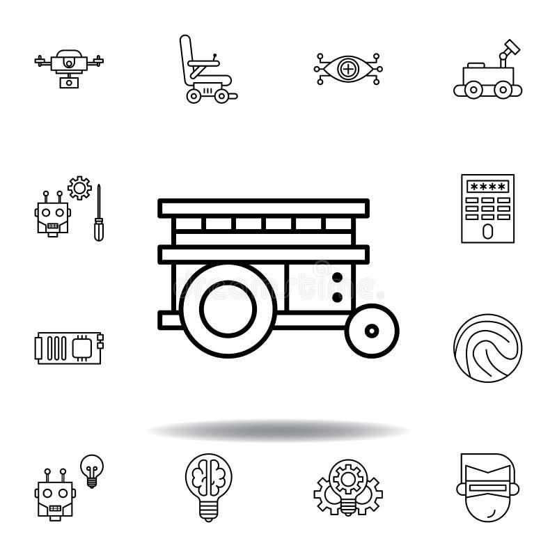 ?cone do esbo?o da plataforma da rob?tica ajuste dos ícones da ilustração da robótica os sinais, símbolos podem ser usados para a ilustração do vetor