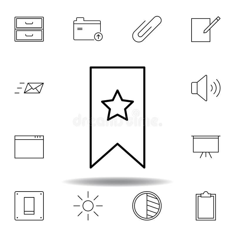 ?cone do esbo?o da rela??o do marcador Grupo detalhado de ícones das ilustrações dos multimédios do unigrid Pode ser usado para a ilustração stock