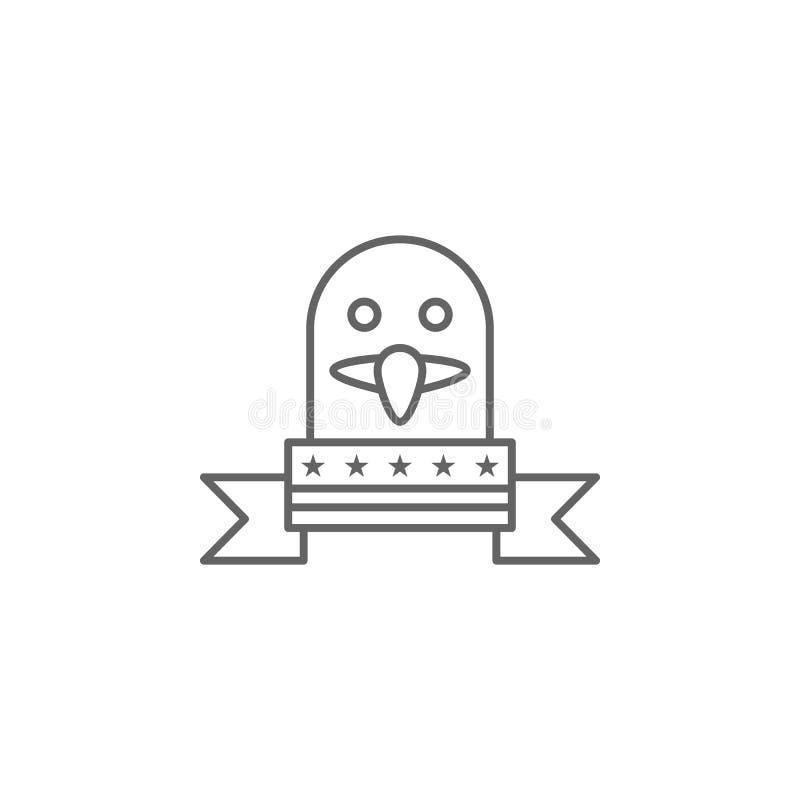 ?cone do esbo?o de Eagle EUA Os sinais e os s?mbolos podem ser usados para a Web, logotipo, app m?vel, UI, UX ilustração royalty free