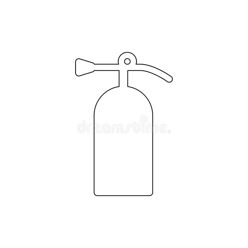 ?cone do esbo?o do extintor Os sinais e os s?mbolos podem ser usados para a Web, logotipo, app m?vel, UI, UX ilustração royalty free